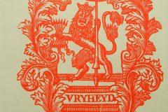 Riemkap Hollandse leeuw – Vryheyd rood