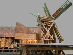 Maquette Papiermolen De Eendracht