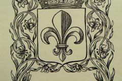 Riemkap Gekroond wapenschild Franse Lelie zwart