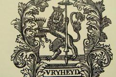 Riemkap Hollandse leeuw – Vryheyd zwart